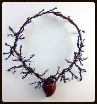 Anatomical Heart Necklace by VoidsCreations