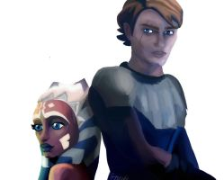 SWTCW Anakin and Ahsoka - Where it all started by Lixadry