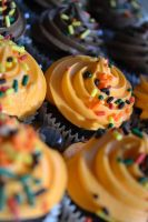 Fall Cupcakes by jeanbeanxoxo