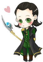 Chibi Loki by bluehippopo