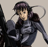 Motoko chilling by BecciES