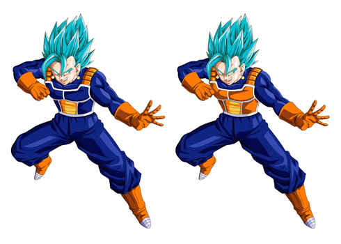 Vegetto Sayan Blue DBSuper Skins Part 01/02 by ovidiocleto