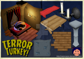Uni Project - Terror Turkey Poster Board by SalmirAeon