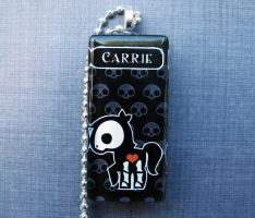 Carrie skelanimals necklace by AngelElementsEtsy