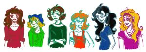 Homestuck: Humanized of girls (Alfa trolls) by mansly