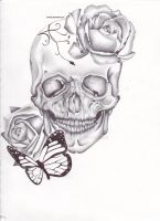Skull tattoo design by 3nViixx