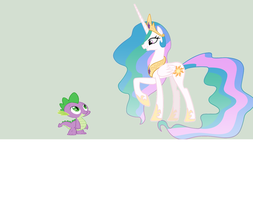 What if Spike was Princess Celestia's Son? by FancySallyAcorn