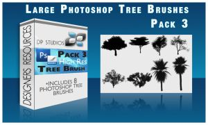 8 Photoshop tree Brushes v3 by DigitalPhenom