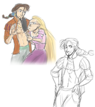 Pirate!Eugene and Rapunzel by maybelletea