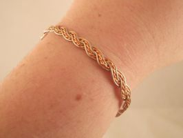 Rope Twist Bangle by JanecShannon