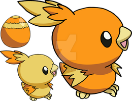 255 - Torchic - Art v.2 by Tails19950