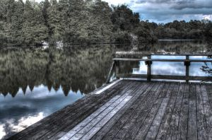 The Lake and The Dock HDR by Kelushan