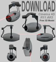 Download - Portal Camera Model by 100SeedlessPenguins