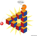 Q*bert: impossible geometry by MarkProductions