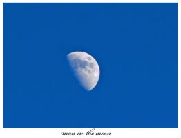 Man in the moon by denil