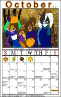 October Calender 2009 by MidNight-Vixen