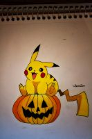 Pikachu's Halloween by NChicaGFX