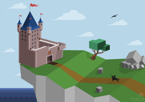 Castle on the Cliff by ankrie