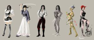 Quick Character Concepts Girls by mansarali