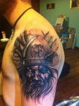 First 4.5 hour Session of Odin/Norse Half Sleeve by Maizy138