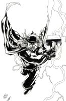 Thor inked by Jonathan Glapion by wrathofkhan