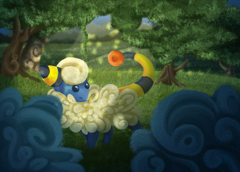 Mareep- SPEED PAINT by ImmaGoddamPony