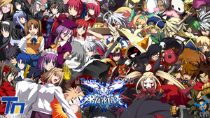 Melty Blood X Blazblue Cast by LarsMasters