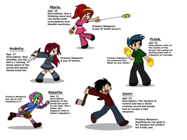 SUP Series Characters by Starry-Bat1