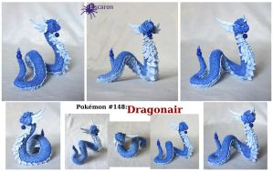 Pokemon 148: Dragonair - Sculpture by Escaron