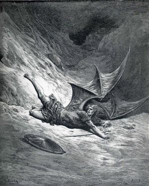 Satan-shown-as-the-fallen-angel-after-having-been- by Delice1941