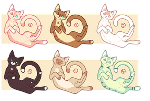 Feline Adoptables Batch #2 [CLOSED] by Love-Adopts