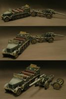 sdkfz7 and sFh 18 by Plastichuan