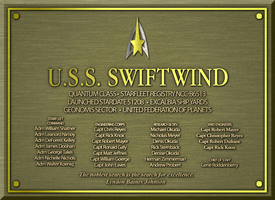 USS SWIFTWIND PLAQUE by S0LARBABY