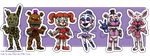 Stickers: Five Nights at Freddy's Set 3 by forte-girl7