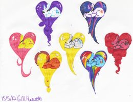 All of my little pony hearts! :D by Dolpgirl