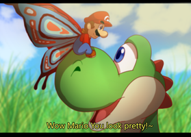 Fake Screenshot: butterfly by MarioCatBros123