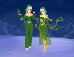 Snivy gijinka-Snow Queen style by YuiHarunaShinozaki