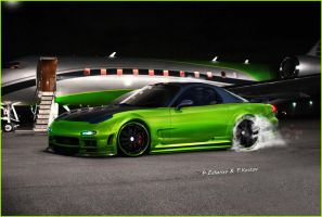 Mazda Rx-7 Green by aNqUi