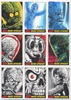 Mars Attacks Heritage sketch cards for Topps 03 by DeJarnette
