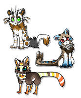 Small OC Adoptables Pack by The-F0X