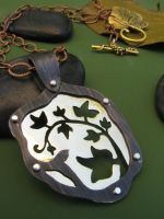 Poisen Ivy Leaf Necklace by AbandonedMemory
