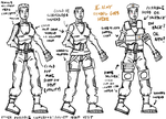 Female Military Hero Concepts by rittie145