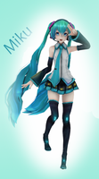 [MMD] Miku by EvergreenGem