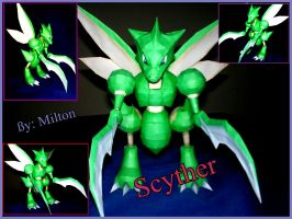 scyther papercraft by milton22x