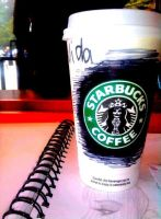 starbucks while studying by Biana117