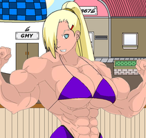 Ino Yamanaka at the Gym by kittycatqueen