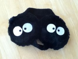 My Neighbor Totoro Dust Bunny Earmuffs by PandoraLuv