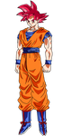 Goku SSJ God Render by SaoDVD