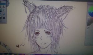 My First Tablet Drawing by JapaneseMusic-Freak