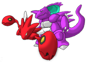 Scizor vs Nidoking by mvidmaster